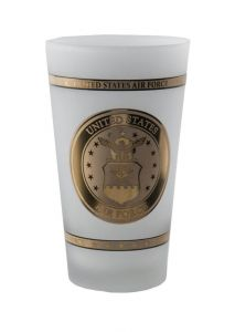 US AIR FORCE FROSTED PINT