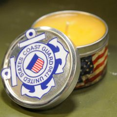 COAST GUARD - TIN CANDLE