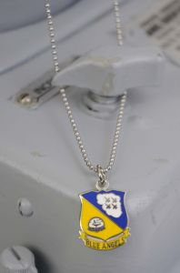 BLUE ANGELS EMBLEM NECKLACE