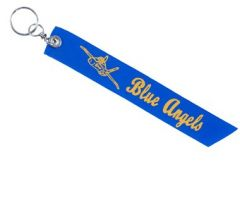 Blue Angel Ribbon Keychain