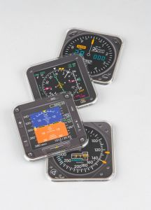 Modern Flight instrument Coasters