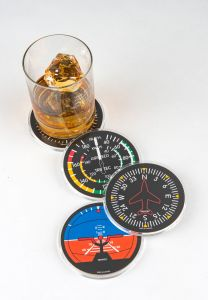 Acrylic Flight  Instrument Coasters