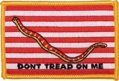 Don't Tread On Me Gold Patch