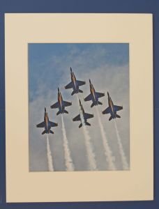 BLUE ANGEL MATTED PHOTO