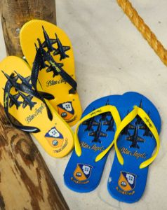 ADULT FLIP-FLOPS - BLUE ANGELS FORMATION