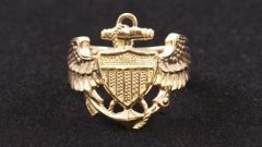 Mens Naval Wings Ring