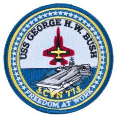 USS George Bush CVN-77 Patch
