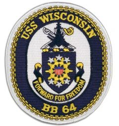 USS Wisconson BB-64 Patch