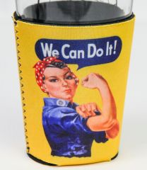 CAN COOLER - ROSIE THE RIVETER