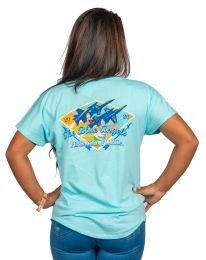 LADIES DIAMOND BLUE ANGELS TEE