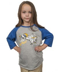Future Blue Angel 3/4 Sleeve Shirt