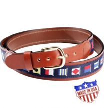 Leather Signal Flag Belt